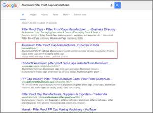 Aluminium Pilfer Proof Cap Manufacturers